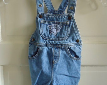 Vintage 80s BABY GUESS Tiny Overalls