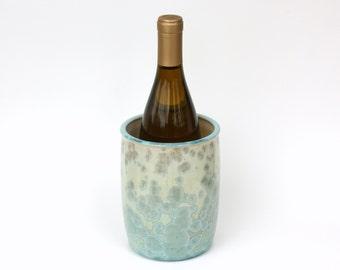 Utensil Holder/Wine Holder in Aqua Crystalline