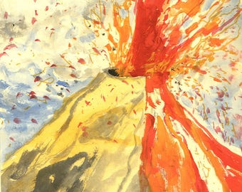Mount Vesuvius - Original Acrylic Painting