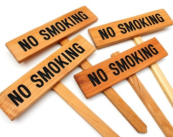 NO SMOKING wooden sign, Outdoor No Smoking sign, Please No Smoking, Custom Sign, Personalized Marker, Wedding Sign, Outdoor Signage