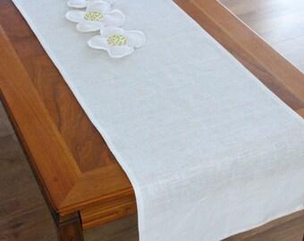 Linen Table Runner / Ivory