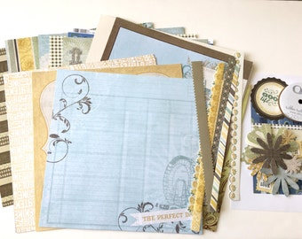 Scrapbooking Kit for Pregnancy Journal Baby Scrapbook Album Maternity Gift Gender Neutral Expecting Mom Gift