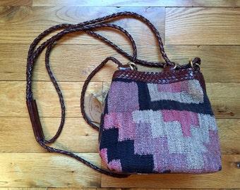 Vintage Kilim Purse / Bucket Purse / Crossbody Purse