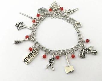 Walking Dead inspired charm bracelet