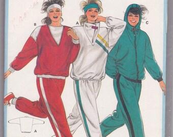 FF Bust 34-48 Misses Jogging Suit Top & Pants Vintage Sewing Pattern [Burda 6410] Size 8-10-12-14-16-18-20-40 UNCUT