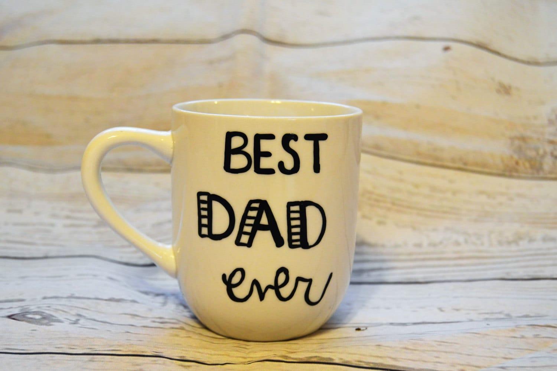 Best Dad Ever Coffee Mug Hand Painted Custom 12 Ounce