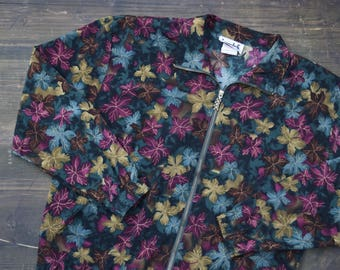 Floral Patterned Vintage Jacket