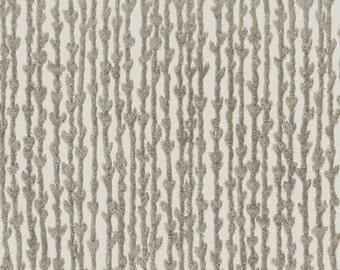 Taupe Velvet Upholstery Fabric - Light Brown Velvet Fabric with Trees - Contemporary Custom Velvet Pillow - Heavy Duty Fabric for Furniture