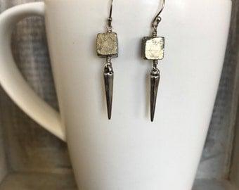 Pyrite Sterling Silver Earrings
