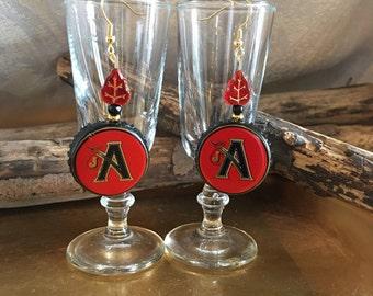 Johnny Appleseed Beer Cap Earrings Drop Beer Bottle Cap Dangle Earrings Christmas Black Crown Hard Cider