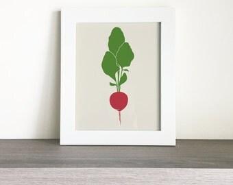 Printable Radish Kitchen Wall Art
