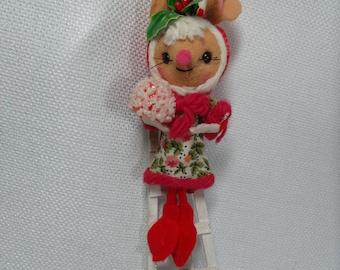 Vintage Christmas Ornament, Mouse Ornament, Japan Ornament