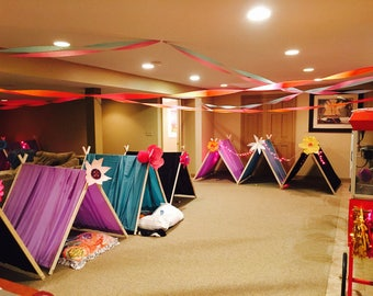 5 Glamping tents, glamping party, glamping, tent, kids tent, sleepover