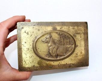 Vintage schmuck  Kupfer schmuck box | Etsy