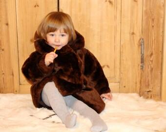 Kids cheepskin coat Kids fur coat Soviet vintage kids fur coat Vintage childs fur coat Kids cheep fur coat Vintage kids winter coat