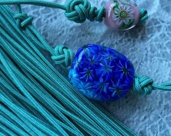 Japanese Silk Kumihimo Cord  * Celadon green braided cord*1.5mm x 10m