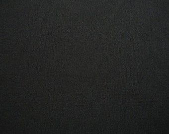 "Black Cotton Stretch Poplin Fabric 54"" Wide Per Yard"