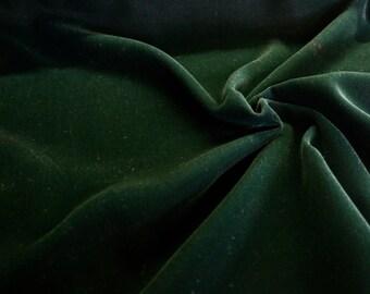 "Hunter Green Non-Stretch Velvet Fabric 45/46"" Wide Per Yard"