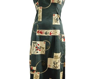 SALE! 1950's Alfred Shaheen Dress