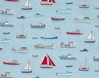 Cotton Fitted Crib sheet, Boats and Ships , Nautical, Toddler sheet.