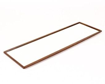 Danish Modern / Mid Century Teak Framed Vanity Mirror — Slender proportion