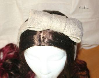 FINAL SALE - Burlap Bow Tie Headband