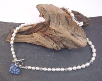 Something Blue Pearl Necklace