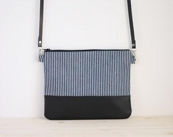 Sailor crossbody bag, blue marine bag, blue bag, blue shoulder bag, sailor clutch bag - Sea