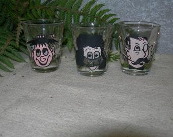 3D Wiggle Eye Shot Glasses Set of 3