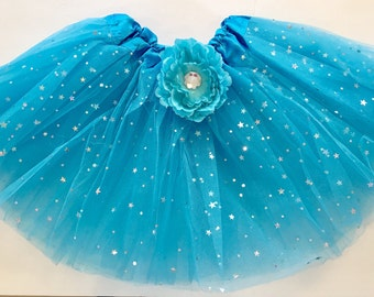 Blue Tutu, Frozen Tutu, Princess Tutu, Blue Sparkle Tutu, Girls Party Favors, Tea Party Favors, Princess Party Favors