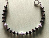 AWESOME cherry amber and silver bracelet