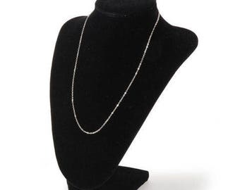 BLACK VELVET 12 Inch High DISPLAY Bust for Necklaces and Scarves - New !!