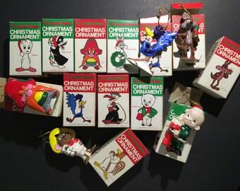 Vintage 14 Looney Tunes Ornaments Japan