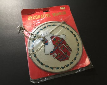 Vintage Decorative Mirror Christmas Wall Decor Tree Ornament
