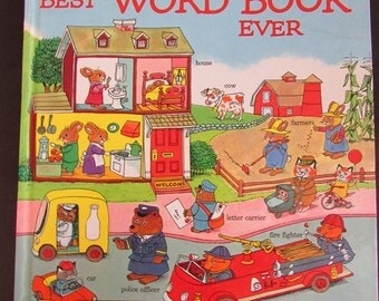Best Word Book Ever Vintage Richard Scarry 1980 Edition