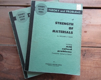 Schaum's Outline Series Theory and Problems Vintage Paper Ephemera 1957