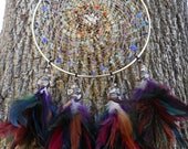 Chakra Alignment Hand-Woven Gold 8 Inch Dream Catcher by The Emerald Lotus