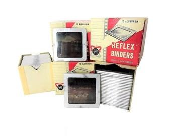 Vintage Gold E Reflex Binders Slide Transparencies