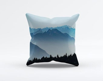 Mountains View Pillow Cover 15 x 15 inch, Sky cushion cover, advanture Decorative Pillow Cover, Home decor