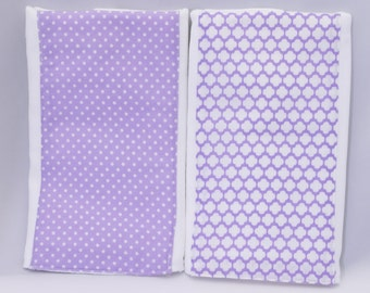 Set of 2 Lavendar Burp Cloths for Her