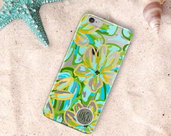 Turquoise clear Iphone 5 case, Transparent Iphone SE case, Pretty fashion accessory, Personalized gift, Gift under 20 for women (1638)