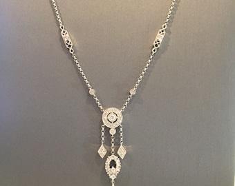 White Gold Diamond Antique Necklace