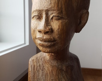 Haitian Vintage Sculpture of Female by the late Ludovic Booz