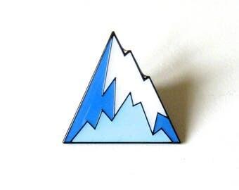 Mountain pin Geometric mountain lapel pin Mountain brooch Soft enamel pin Adventure Explore Outdoors pin badge skiing snowboarding pin gift