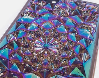 Clear Cosmic Holographic Iridescent Kaleidoscope iPhone 7 Case