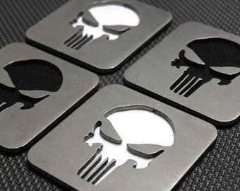 The Punisher Themed Coasters Set of 4, SS, Frank Castle