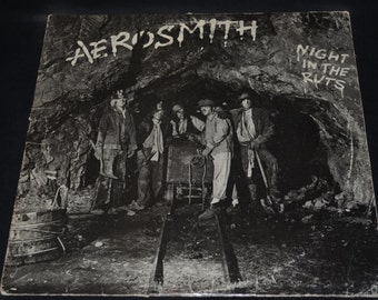Vintage Vinyl Record Aerosmith: Night in the Ruts Album AL-36050