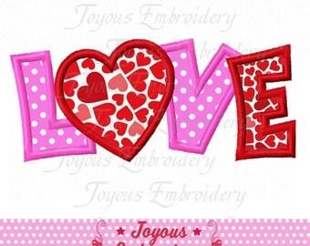 Instant Download Valentine's day LOVE Heart Applique Embroidery Design NO:2284