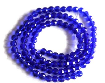 6mm Sapphire 96 Faceted Chinese Round Crystals