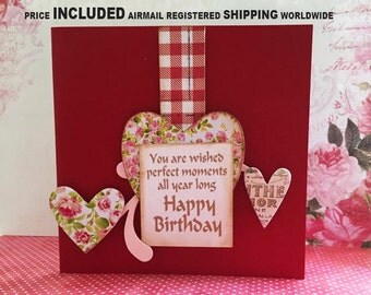 """Birthday Card, Photoframe, 6"""" x 6"""" ,  Mother's Day Card, Congratulations Card, Weddings, Cards for all occasion"""